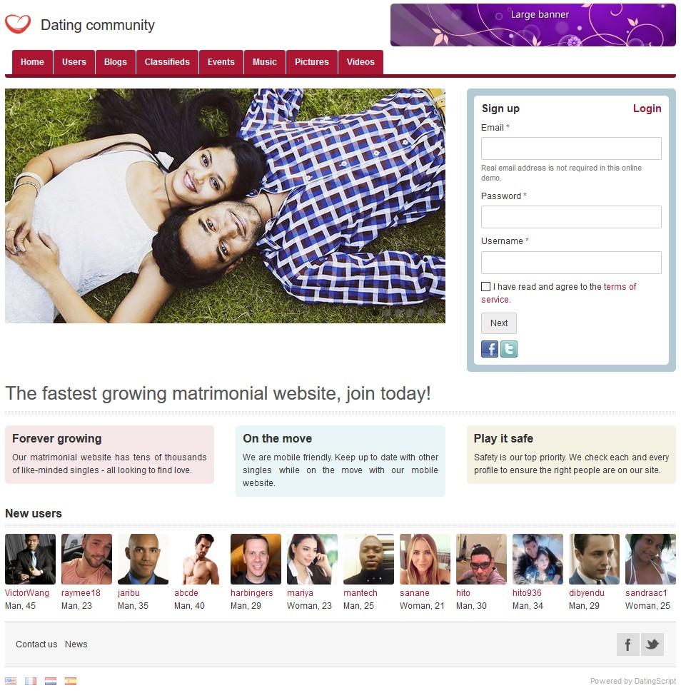 Free software dating website